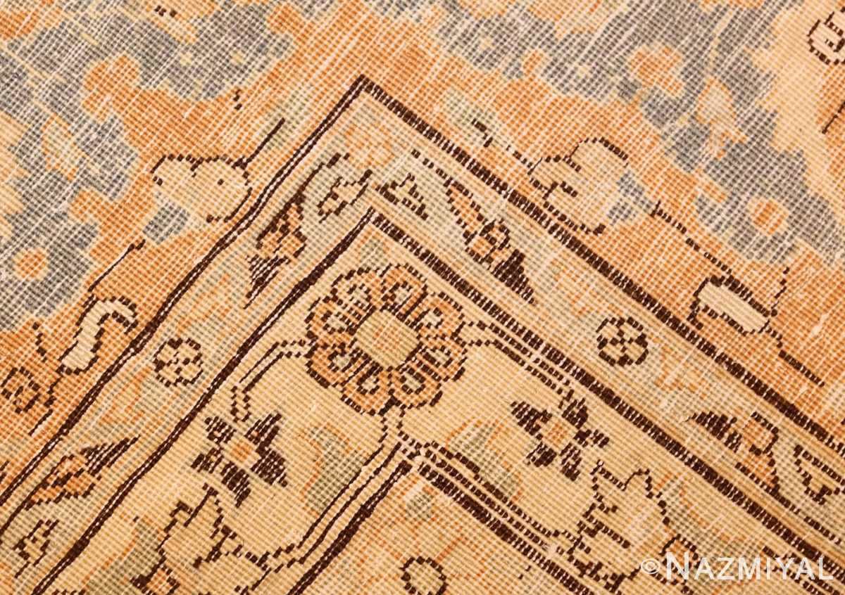 fine silk and wool antique persian tehran rug 48249 weave Nazmiyal