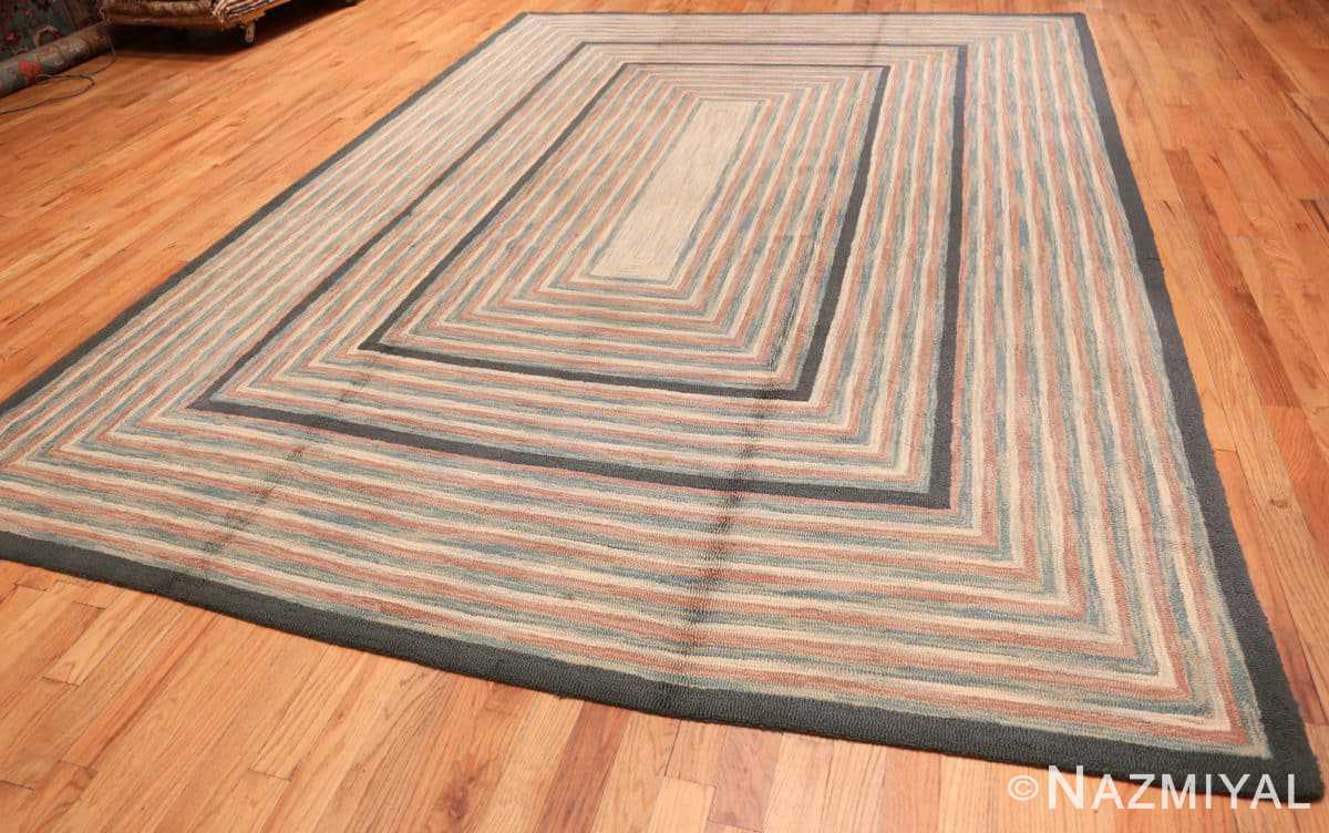 Full Antique American hooked rug 50054 by Nazmiyal
