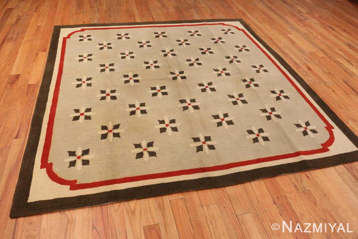 Full Antique Deco American hooked rug 2714 by Nazmiyal