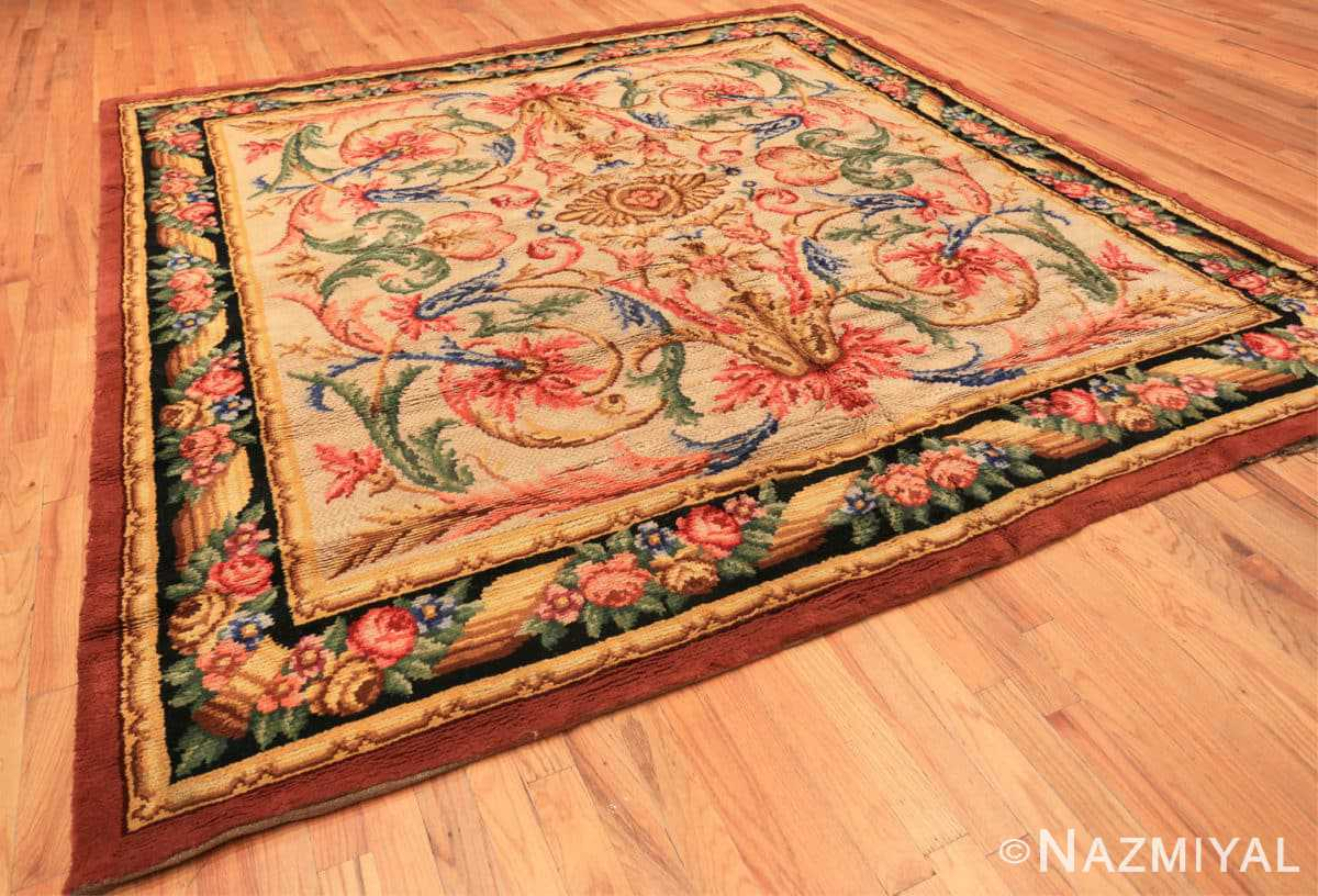 Full Antique Spanish savonnerie rug 46823 by Nazmiyal Antique rugsque Spanish savonnrie rug 46823 by Nazmiyal Antique rugs