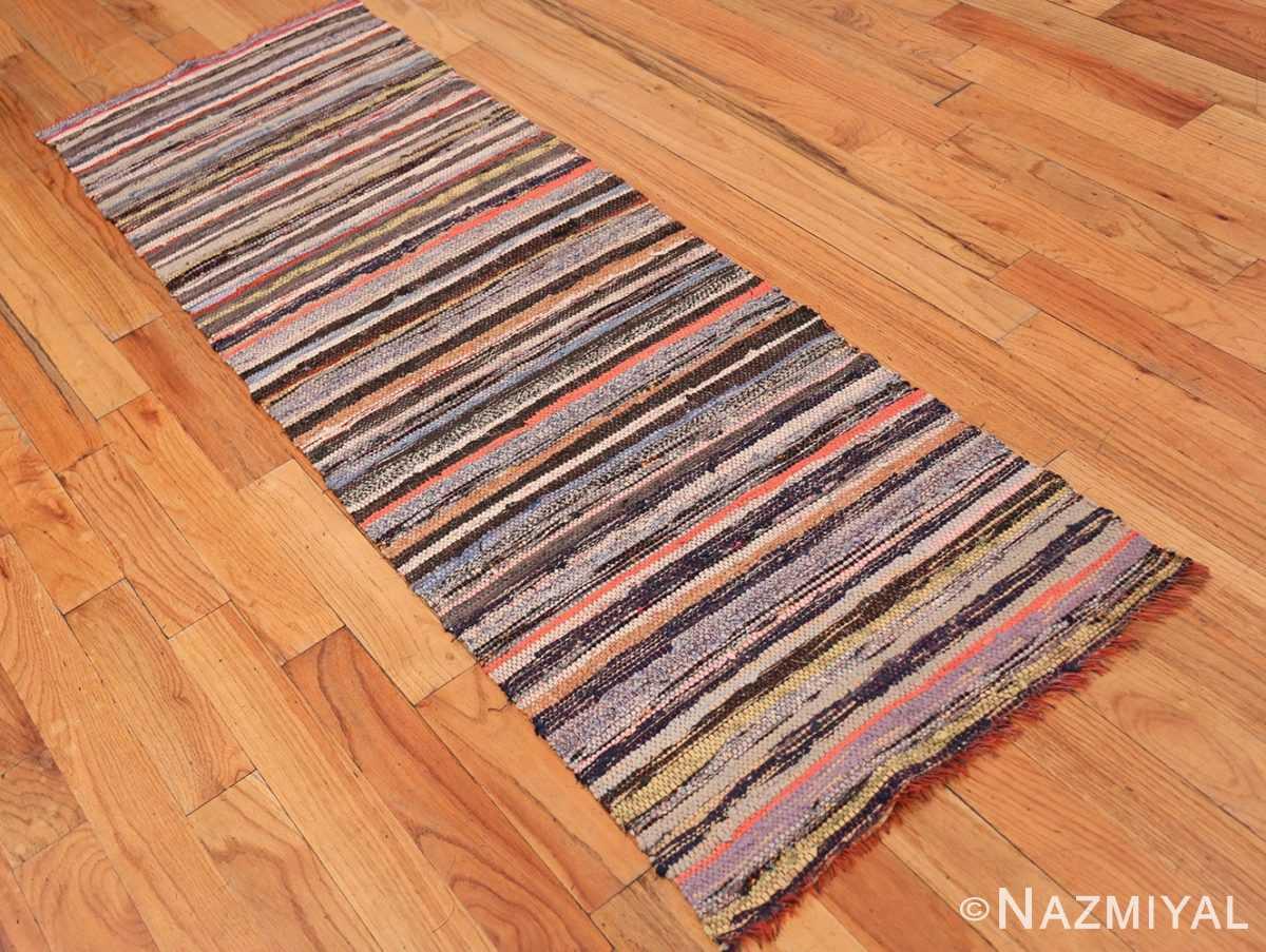 Full Vintage Swedish rag rug 46660 by Nazmiyal