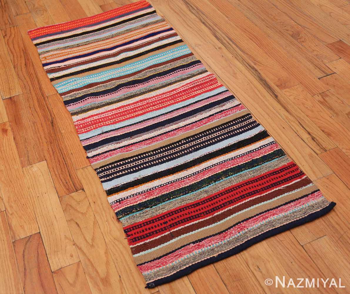 Full Vintage Swedish rag rug 46667 by Nazmiyal