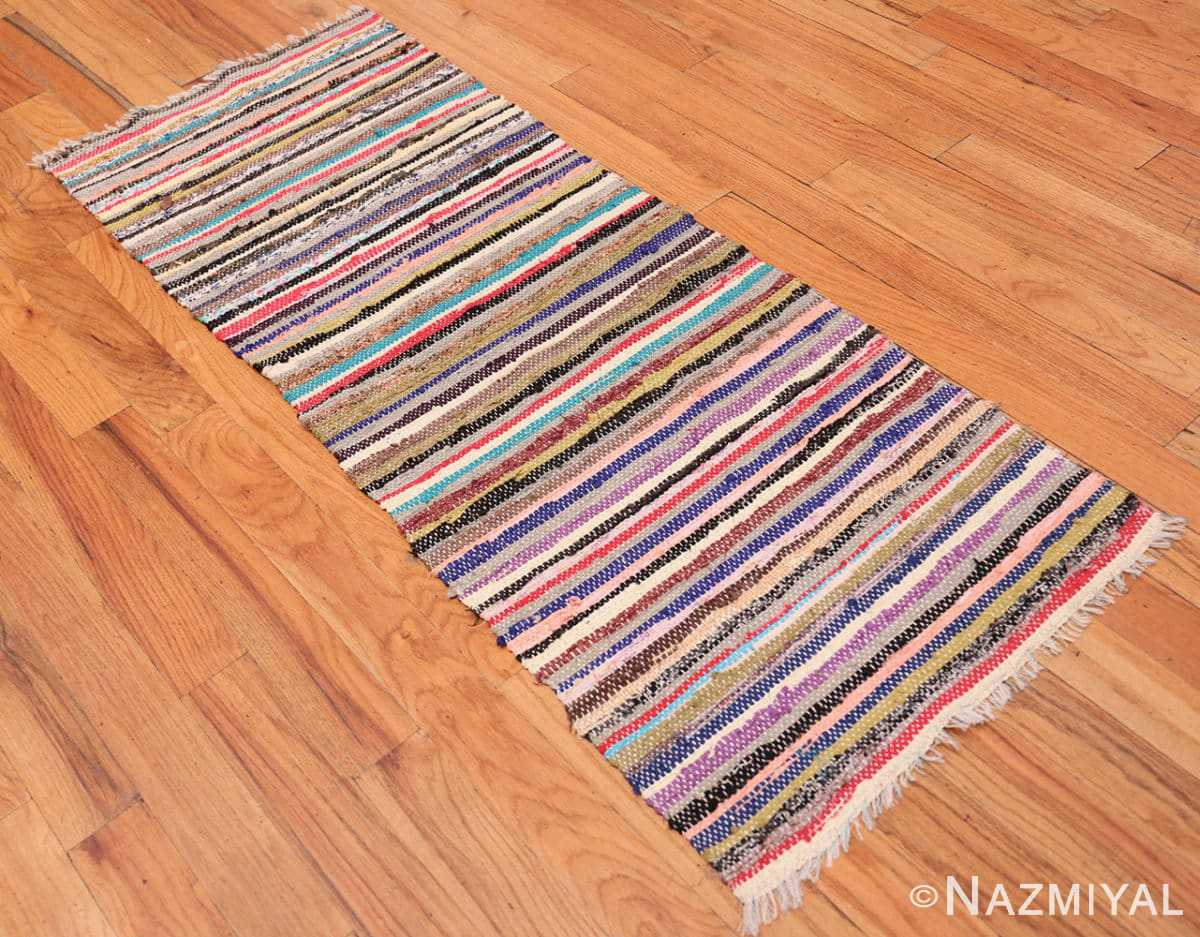 Full Vintage Swedish rag runner rug 46659 by Nazmiyal