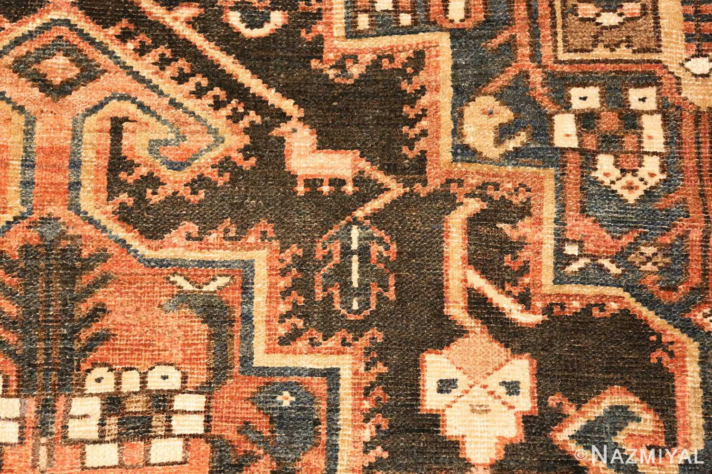 large tribal geometric antique bakhtiari persian carpet 50136 animal Nazmiyal
