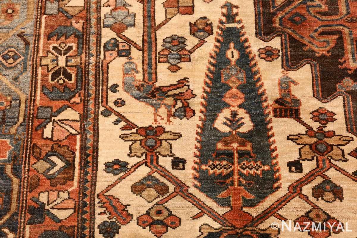 large tribal geometric antique bakhtiari persian carpet 50136 bird Nazmiyal