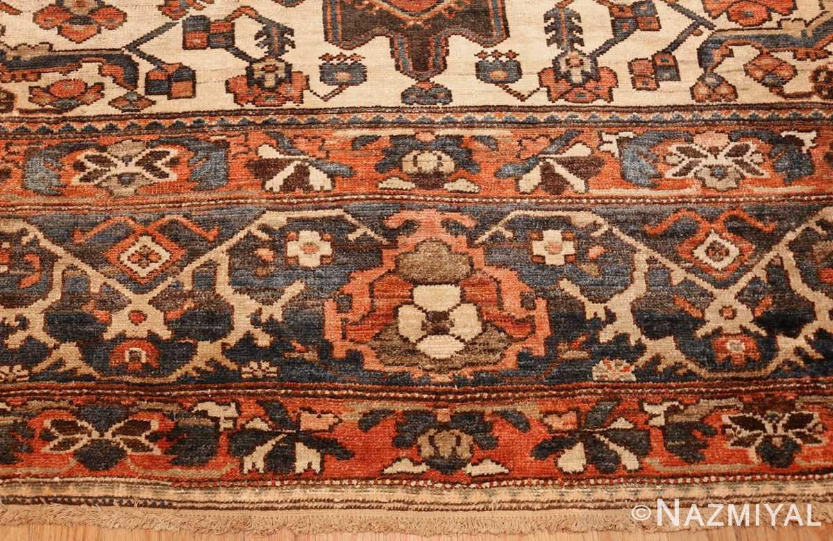 large tribal geometric antique bakhtiari persian carpet 50136 border Nazmiyal