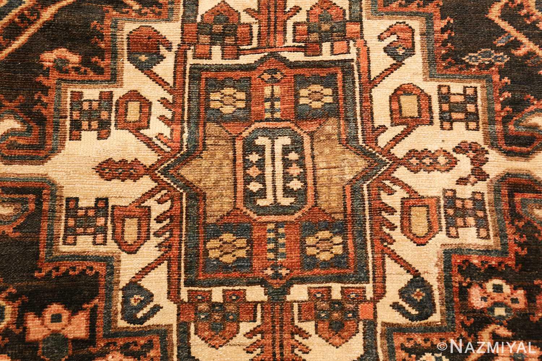 large tribal geometric antique bakhtiari persian carpet 50136 center Nazmiyal