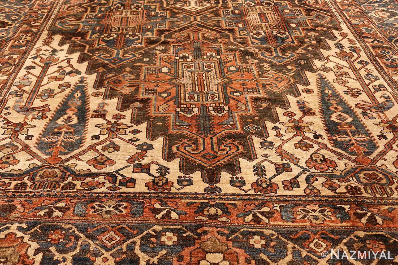 large tribal geometric antique bakhtiari persian carpet 50136 design Nazmiyal