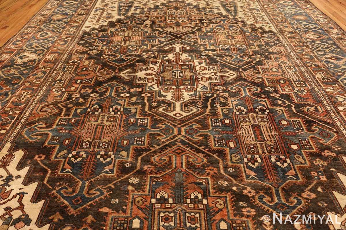 large tribal geometric antique bakhtiari persian carpet 50136 field Nazmiyal