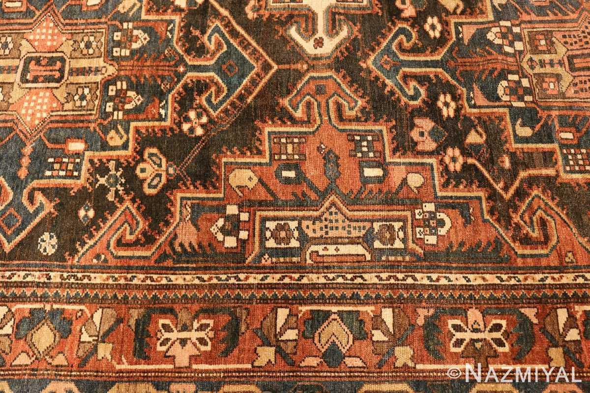 large tribal geometric antique bakhtiari persian carpet 50136 pattern Nazmiyal
