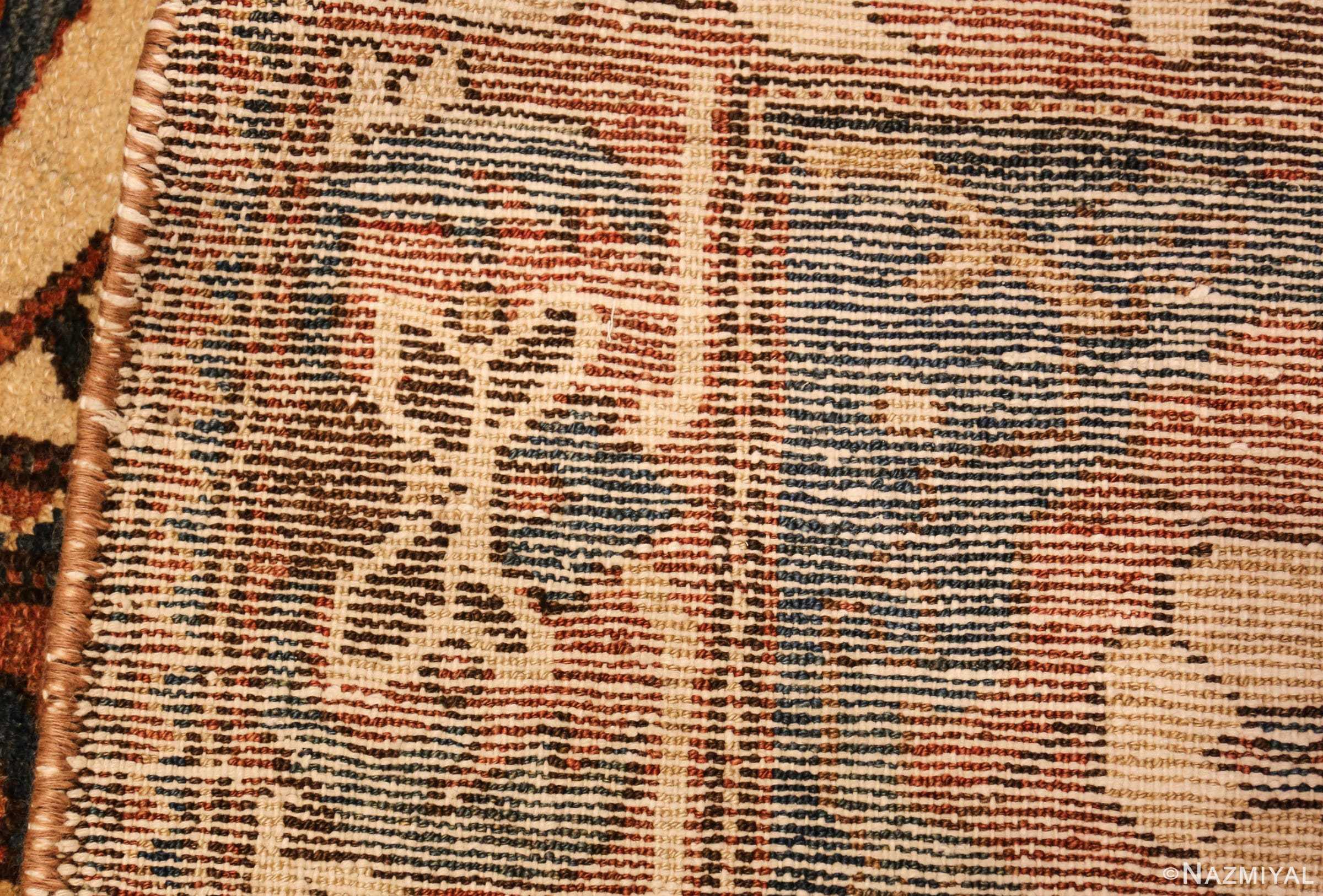 large tribal geometric antique bakhtiari persian carpet 50136 weave Nazmiyal