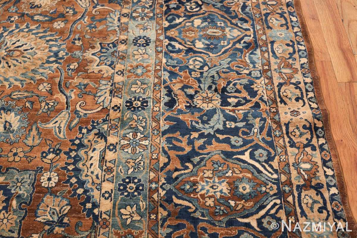 Oversized Antique Persian Kerman Carpet 50192 Border Nazmiyal