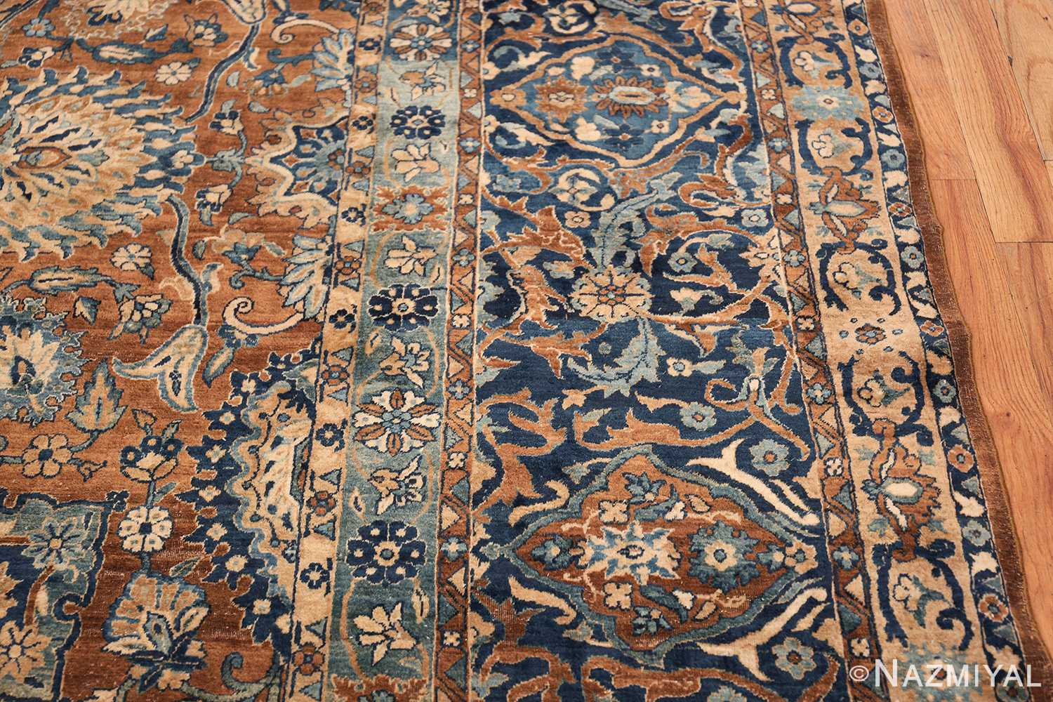 Oversized Antique Persian Kerman Carpet 50192 Border Nazmiyal