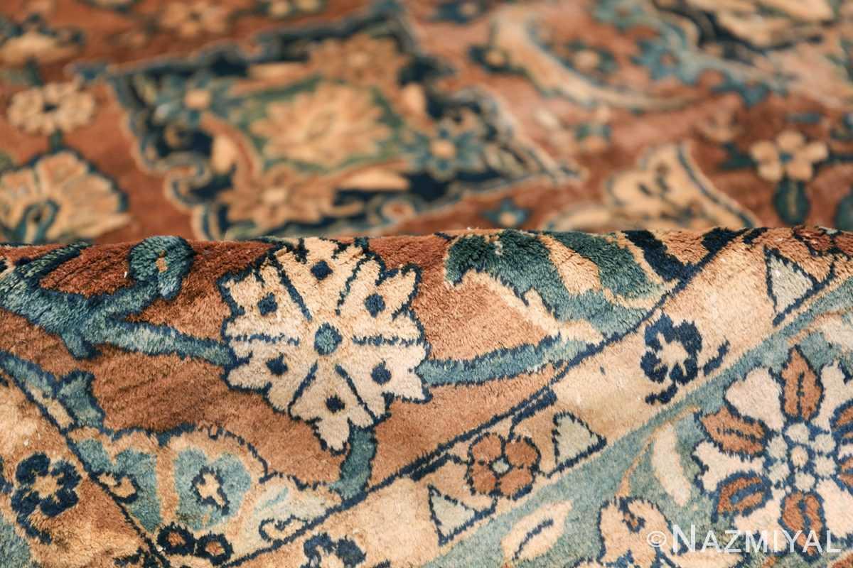 Oversized Antique Persian Kerman Carpet 50192 Brown Pile Nazmiyal