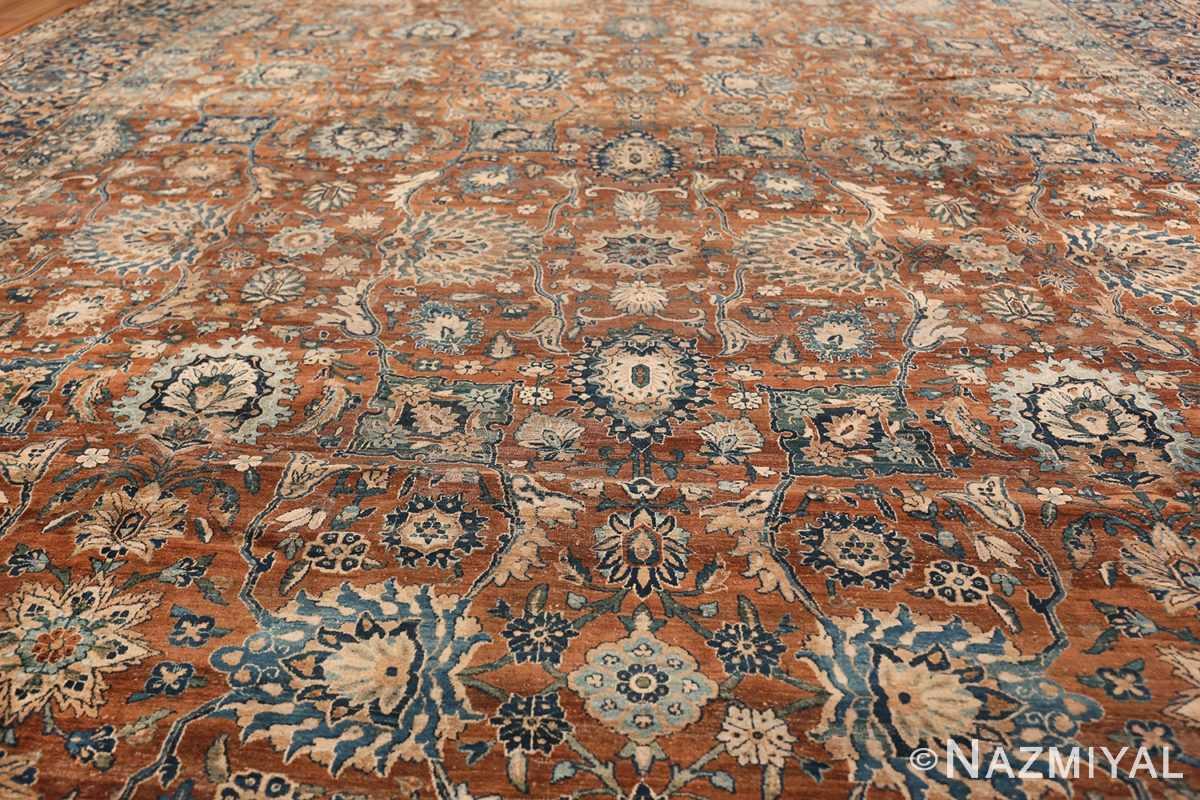 Oversized Antique Persian Kerman Carpet 50192 Field Design Nazmiyal