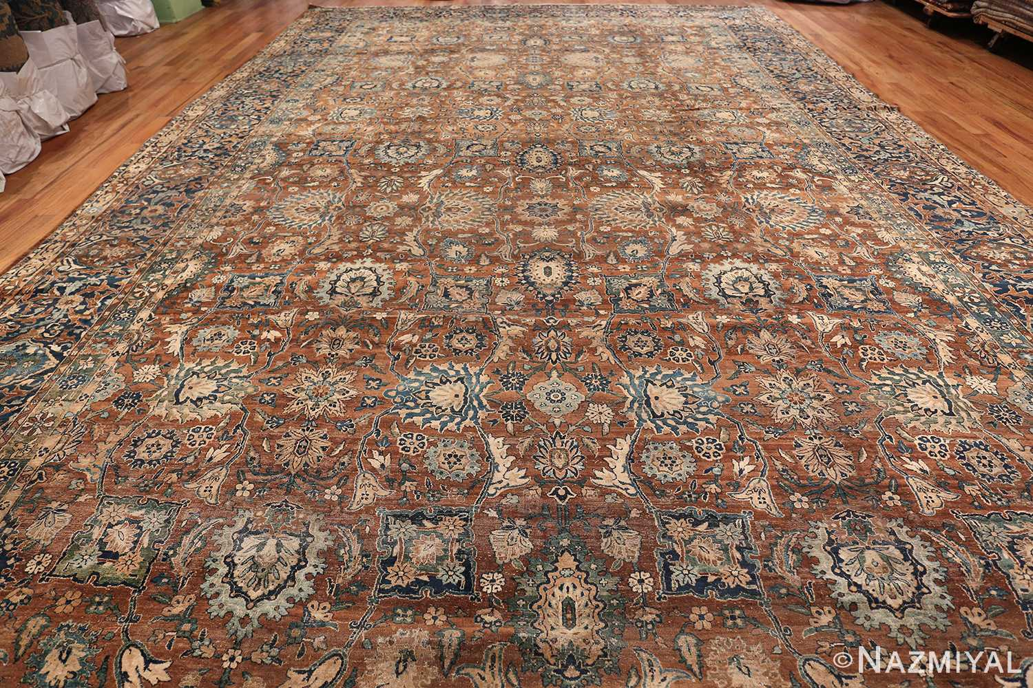 Oversized Antique Persian Kerman Carpet 50192 whole Design Nazmiyal