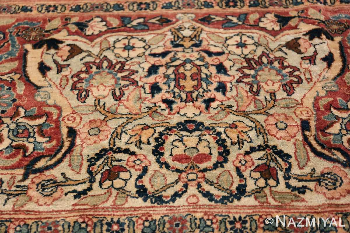 Oversized Antique Tehran Persian Carpet 50123 Green Pattern Nazmiyal