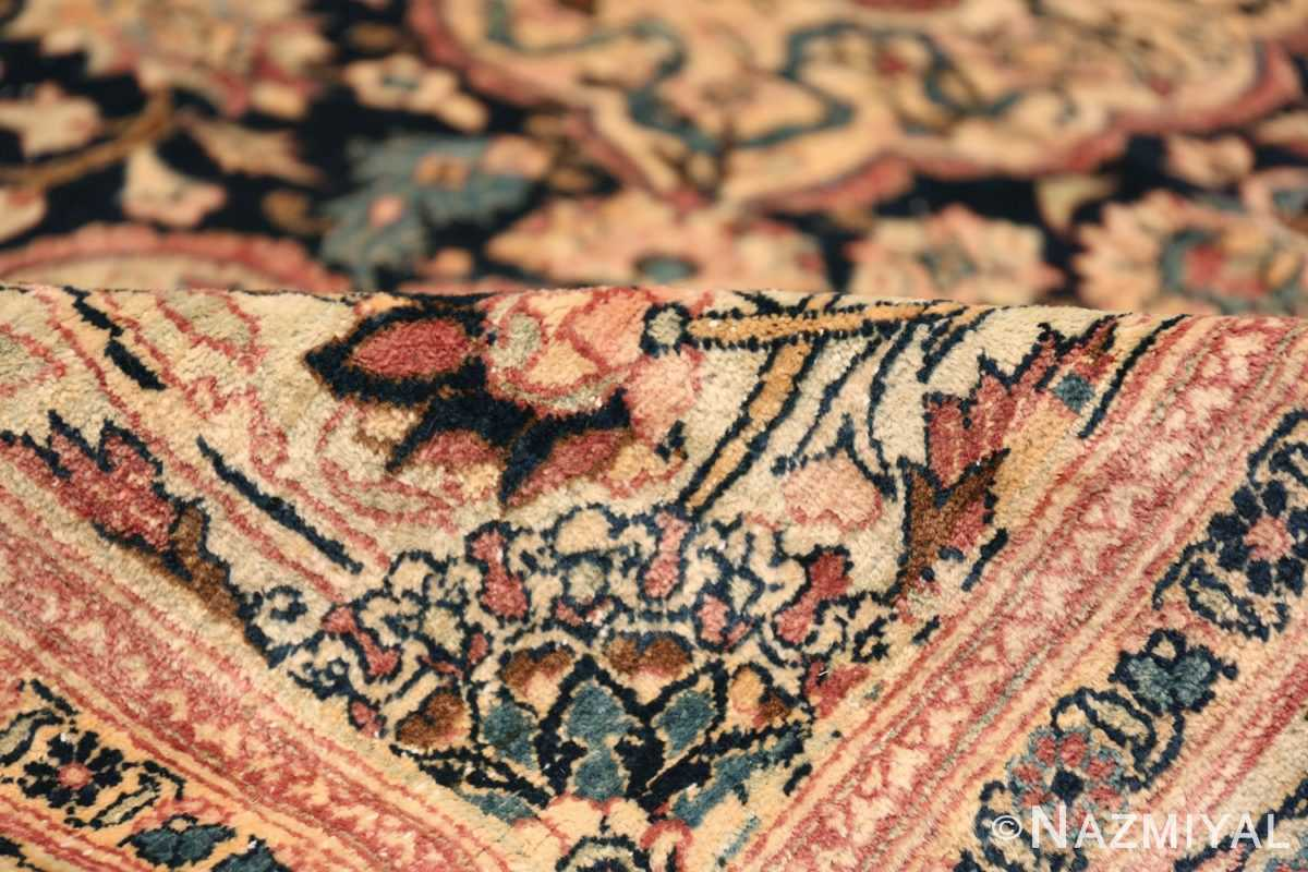 Oversized Antique Tehran Persian Carpet 50123 Ivory Pile Nazmiyal