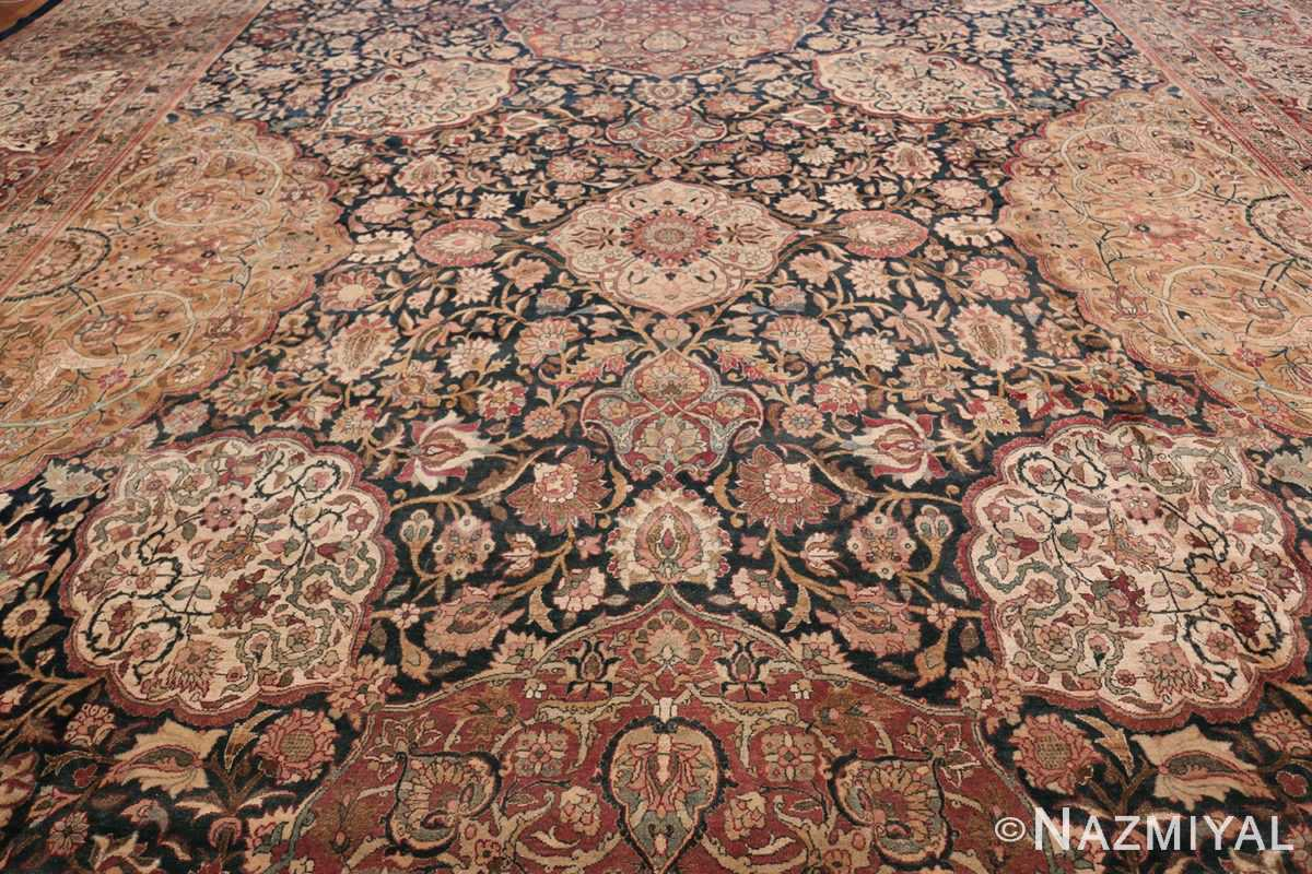 Oversized Antique Tehran Persian Carpet 50123 Middle Part Nazmiyal