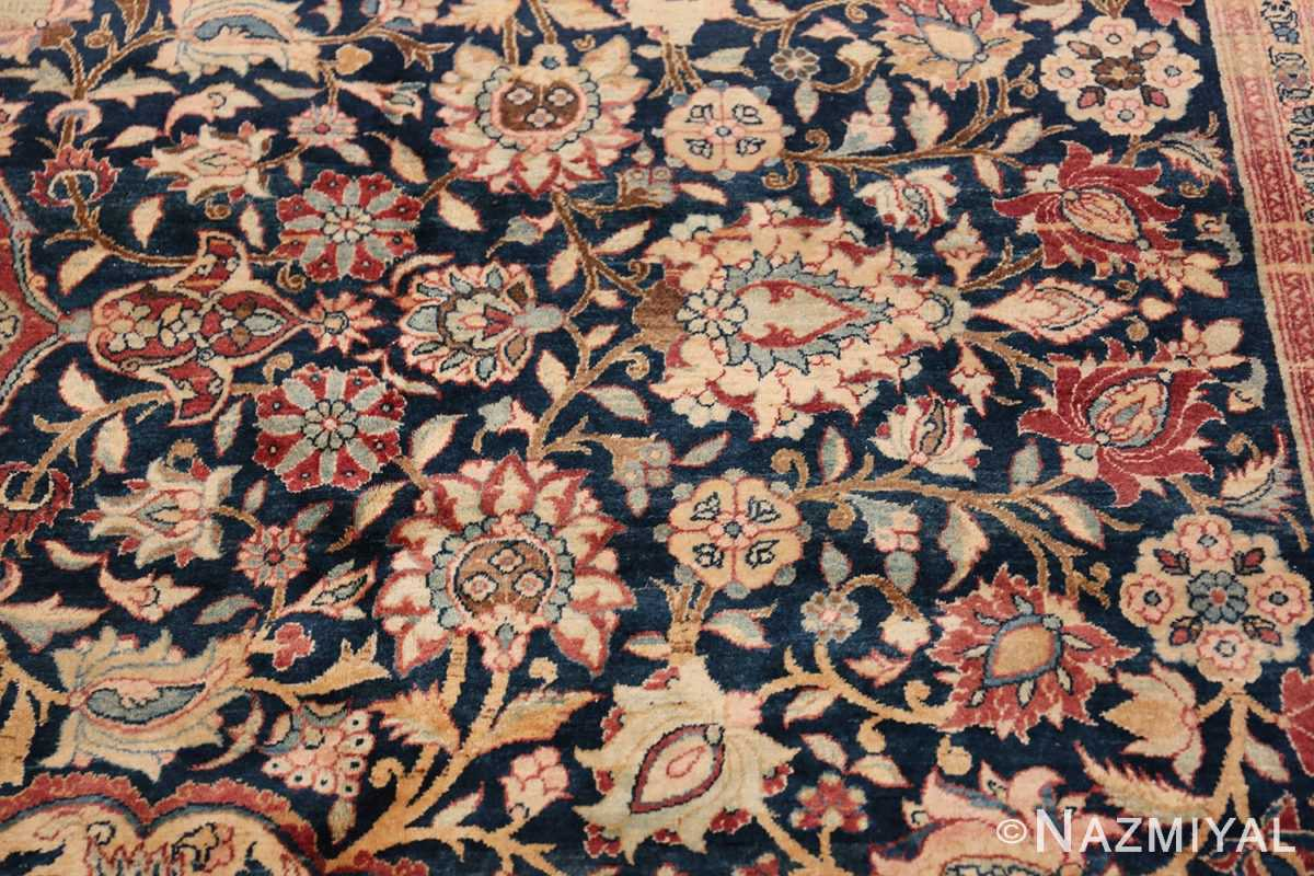 Oversized Antique Tehran Persian Carpet 50123 Navy Field Nazmiyal