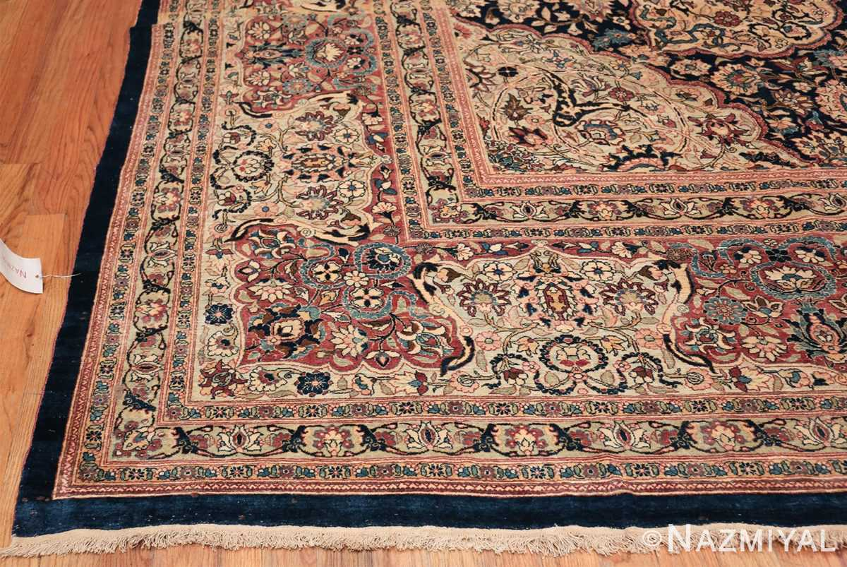 Oversized Antique Tehran Persian Carpet 50123 Side Corner Nazmiyal