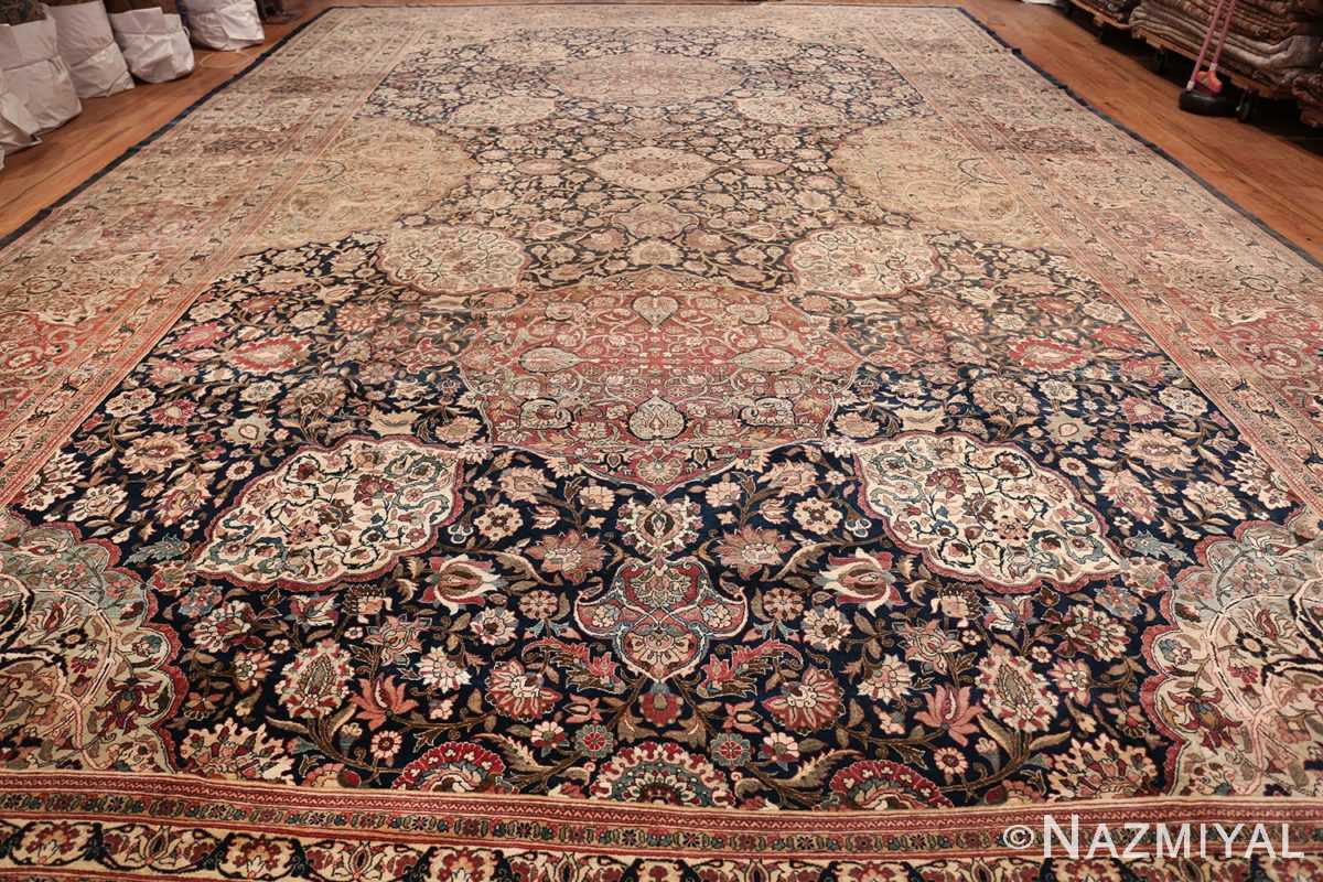 Oversized Antique Tehran Persian Carpet 50123 Whole Design Light Side Nazmiyal