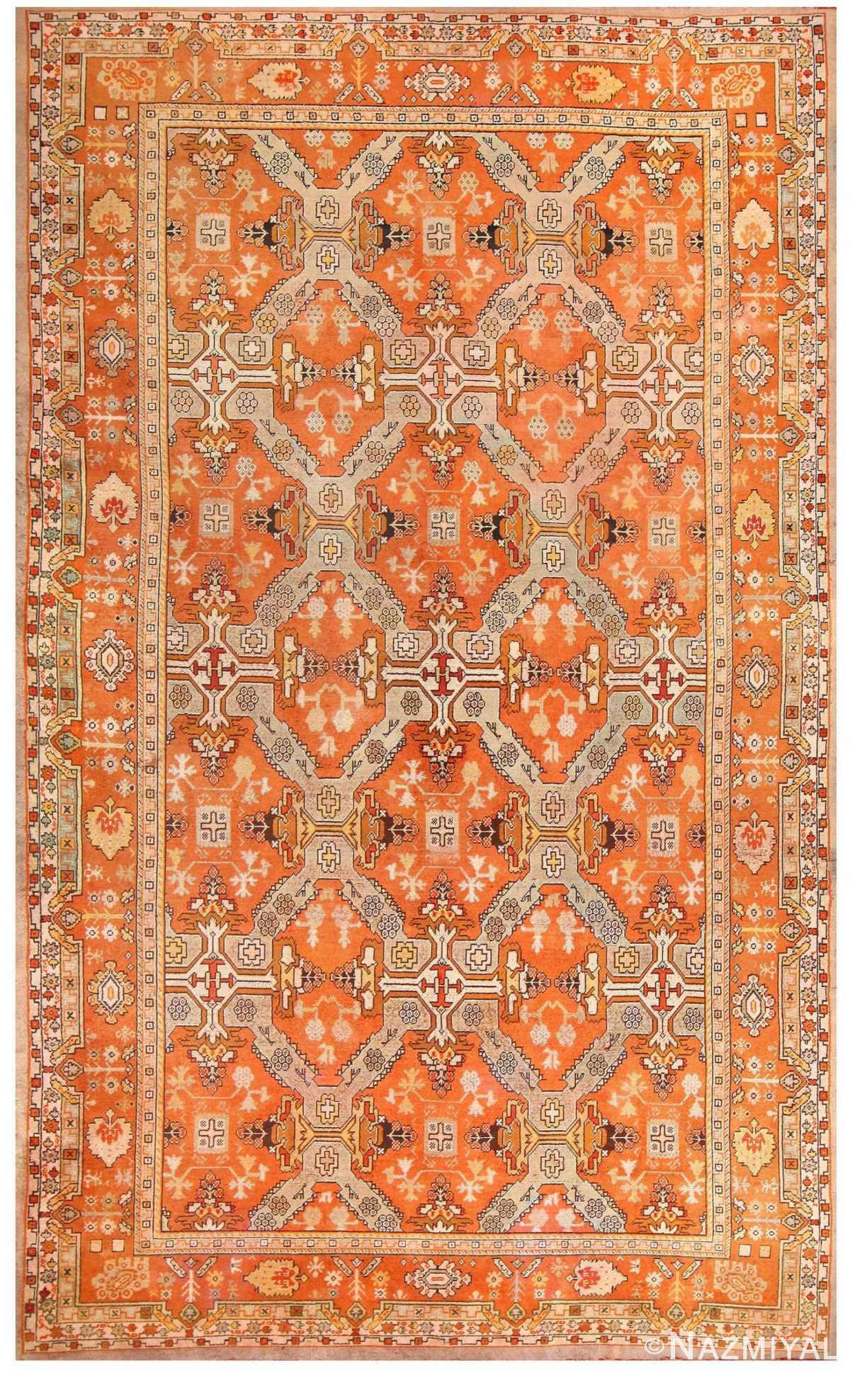 Oversized Antique Turkish Oushak Carpet 48371 Nazmiyal