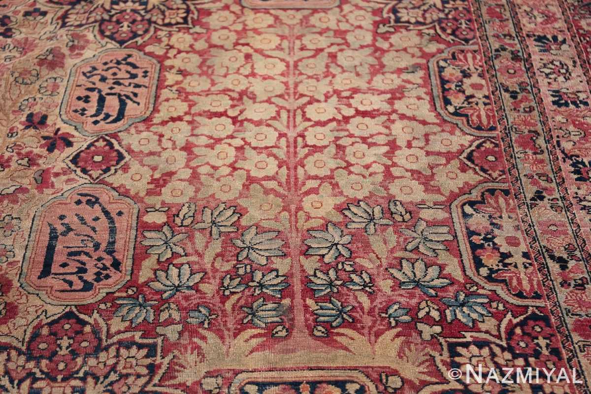 Oversized Oriental Palace Size Antique Persian Kerman Carpet 50112 Blue Blooms Nazmiyal