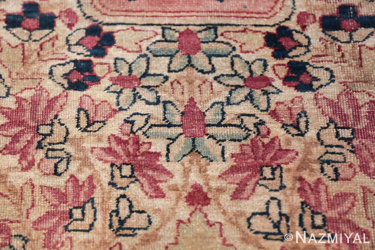 Oversized Oriental Palace Size Antique Persian Kerman Carpet 50112 Closeup Texture Nazmiyal