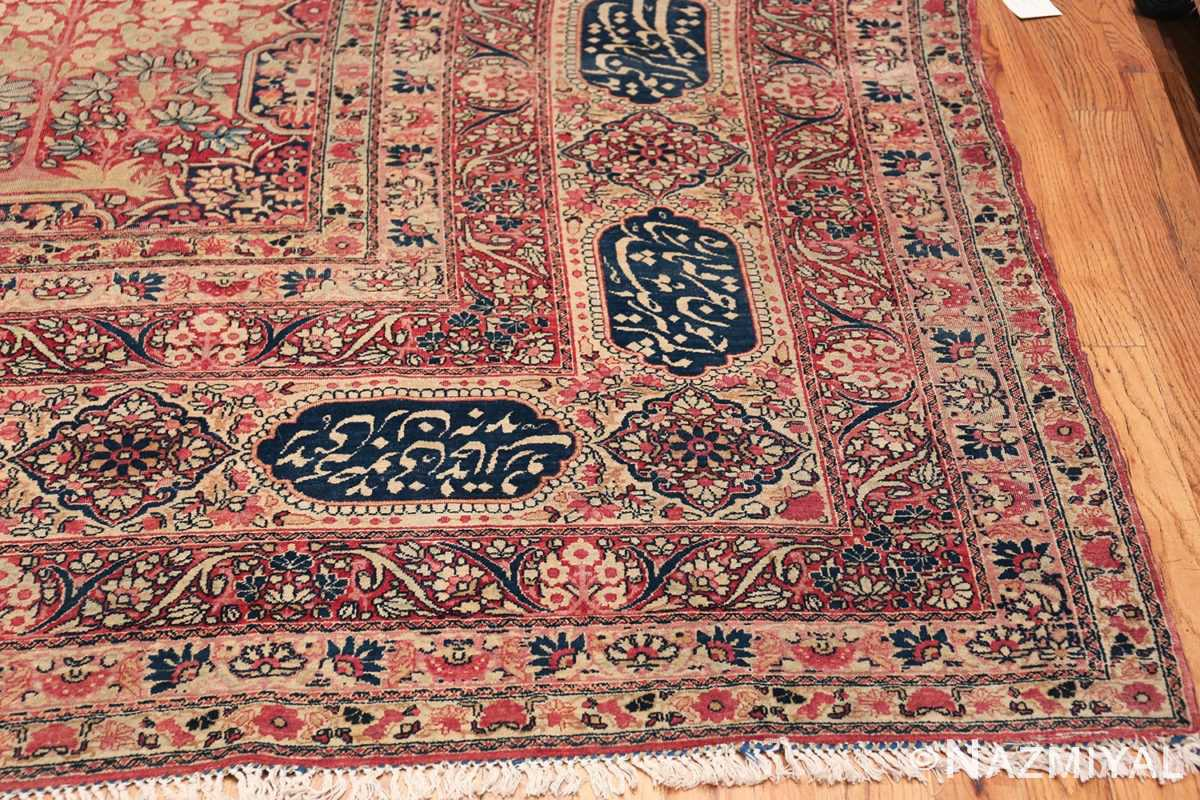 Oversized Oriental Palace Size Antique Persian Kerman Carpet 50112 Side Corner Nazmiyal