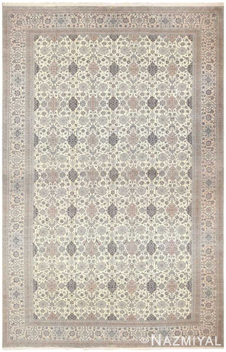Oversized Persian Nain Habibian Carpet #50161 by Nazmiyal Antique Rugs
