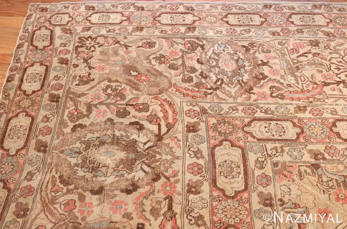 Palace Size Antique Persian Tabriz Carpet 50111 Side Corner Right Nazmiyal