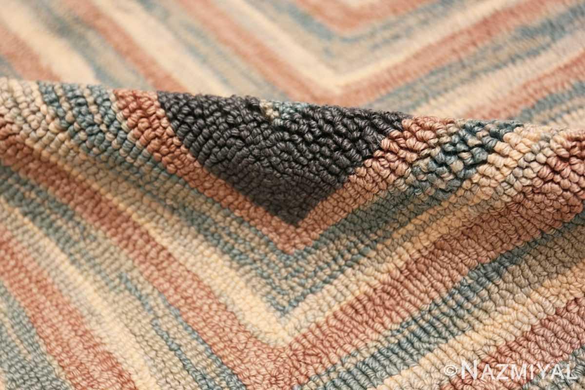 Pile Antique American hooked rug 50054 by Nazmiyal
