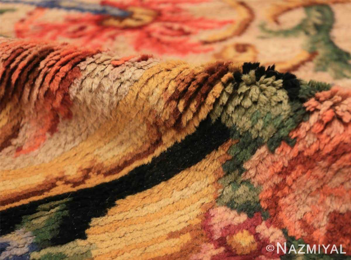 Pile Antique Spanish savonnerie rug 46823 by Nazmiyal Antique rugs