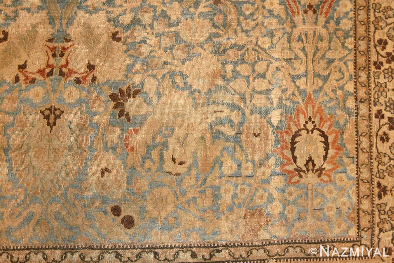 sky blue antique khorassan persian carpet 46929 corner Nazmiyal