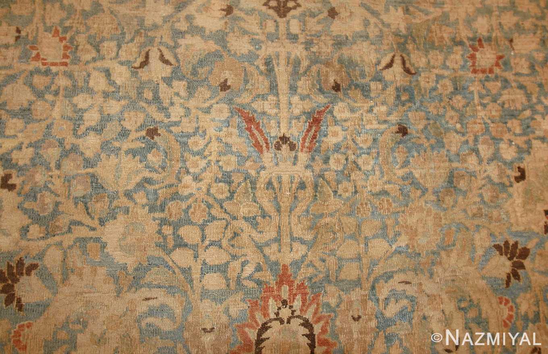 sky blue antique khorassan persian carpet 46929 field Nazmiyal