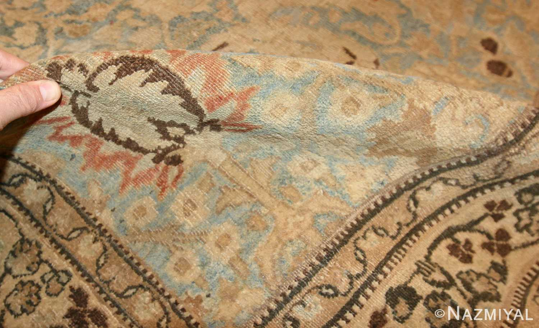 sky blue antique khorassan persian carpet 46929 pile Nazmiyal