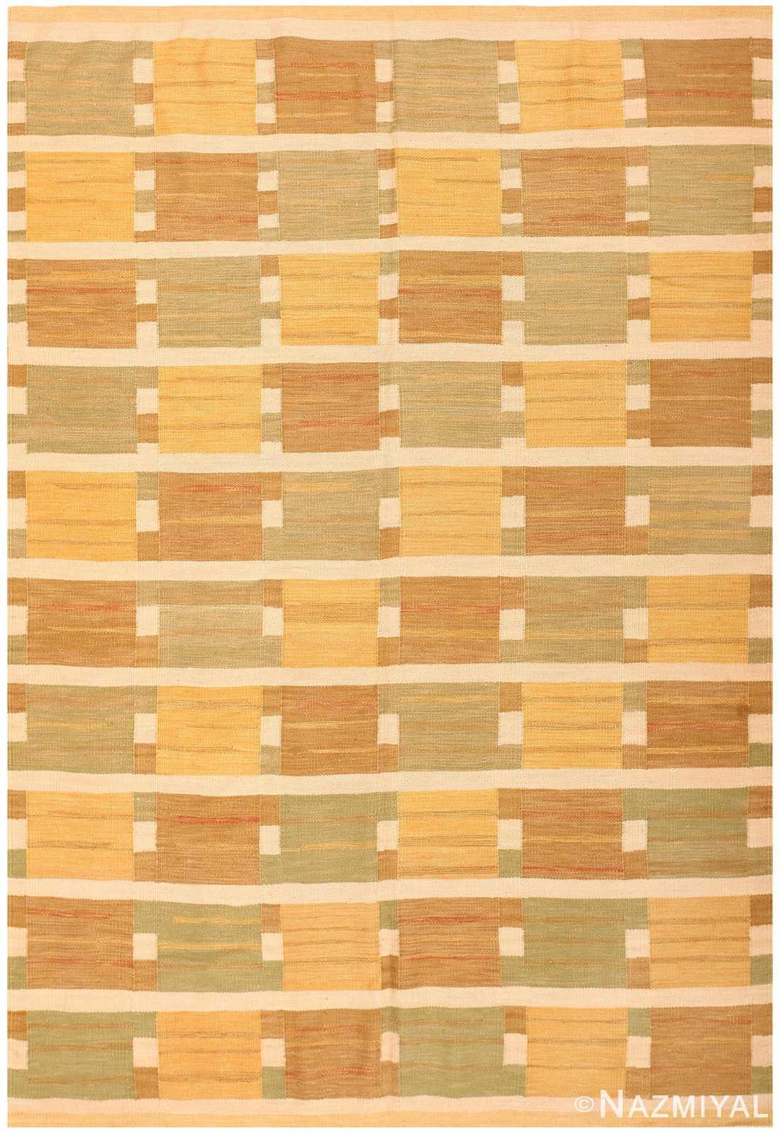 Swedish Inspired Contemporary Carpet 48383 Nazmiyal