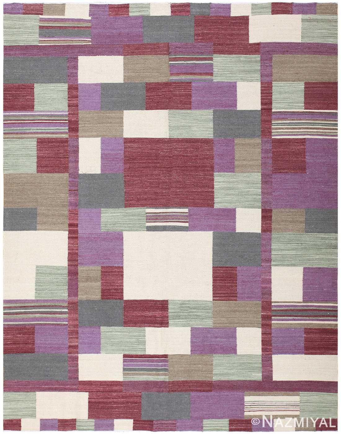 Swedish Inspired Modern Contemporary Carpet 48480 Nazmiyal