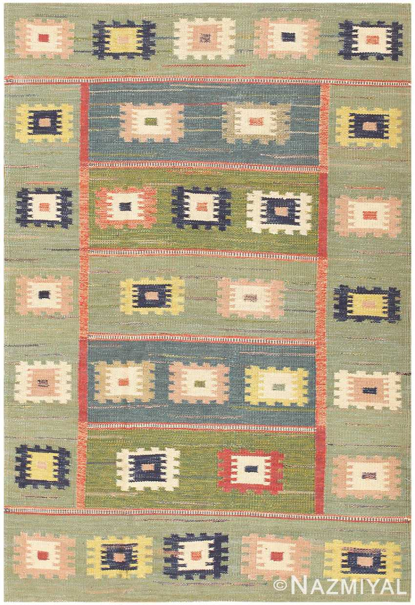 Swedish Inspired Kilim 48516 Detail/Large View