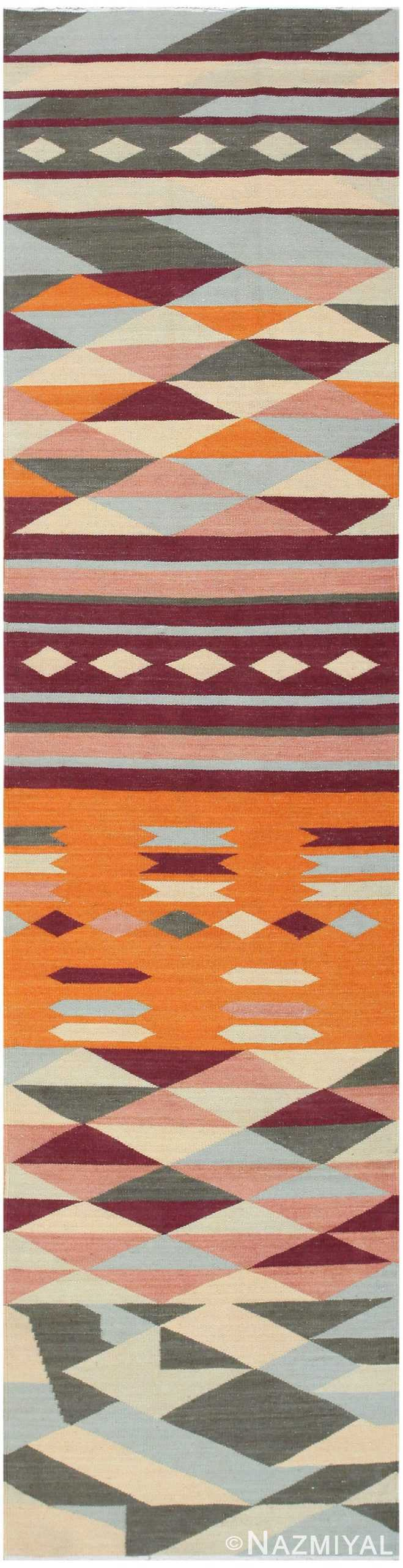 Swedish Inspired Kilim Runner 48476 Detail/Large View
