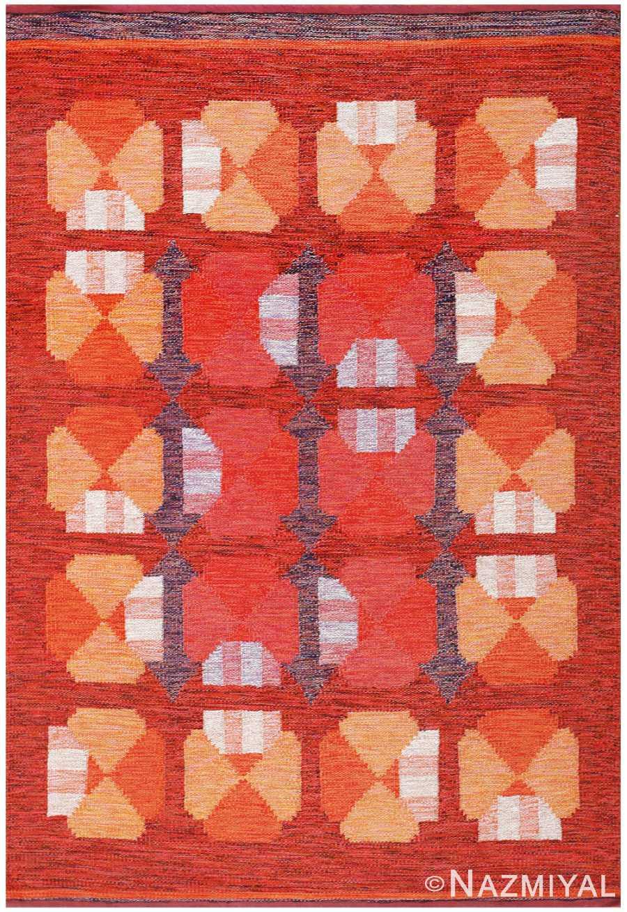 Vintage Finnish Carpet by Alestalon Mottokutomo 48447 Nazmiyal
