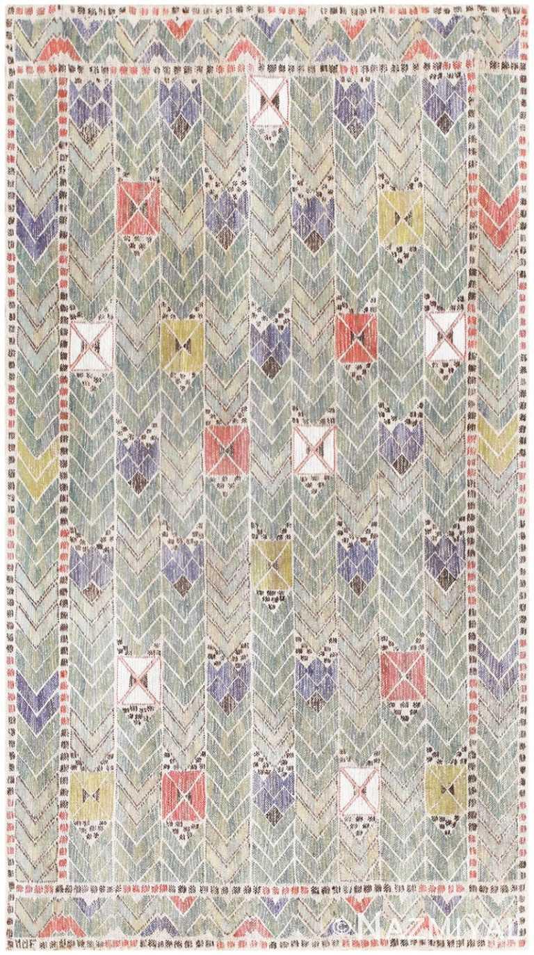 Vintage Marta Maas Fjetterstrom Swedish Tapestry 48439 Image by Nazmiyal