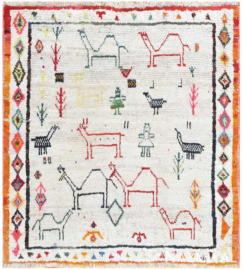 Vintage Persian Gabbeh Carpet 48487 Nazmiyal