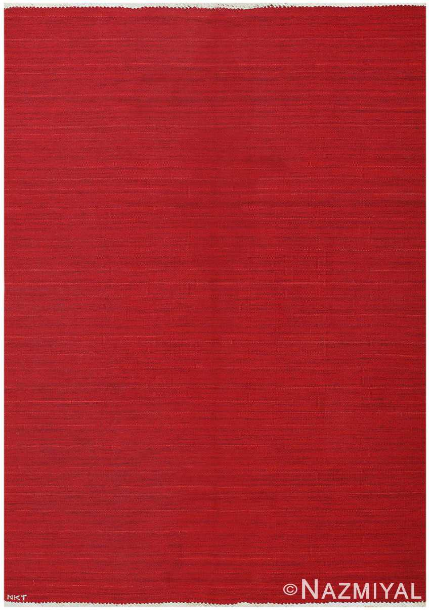 Vintage Red Swedish Kilim 48441 Detail/Large View