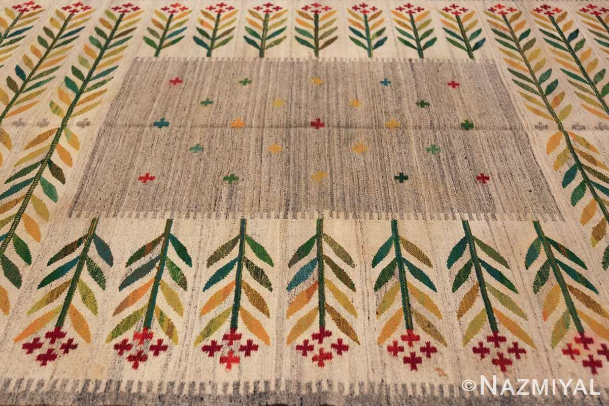 vintage scandinavian swedish carpet 48446 field Nazmiyal