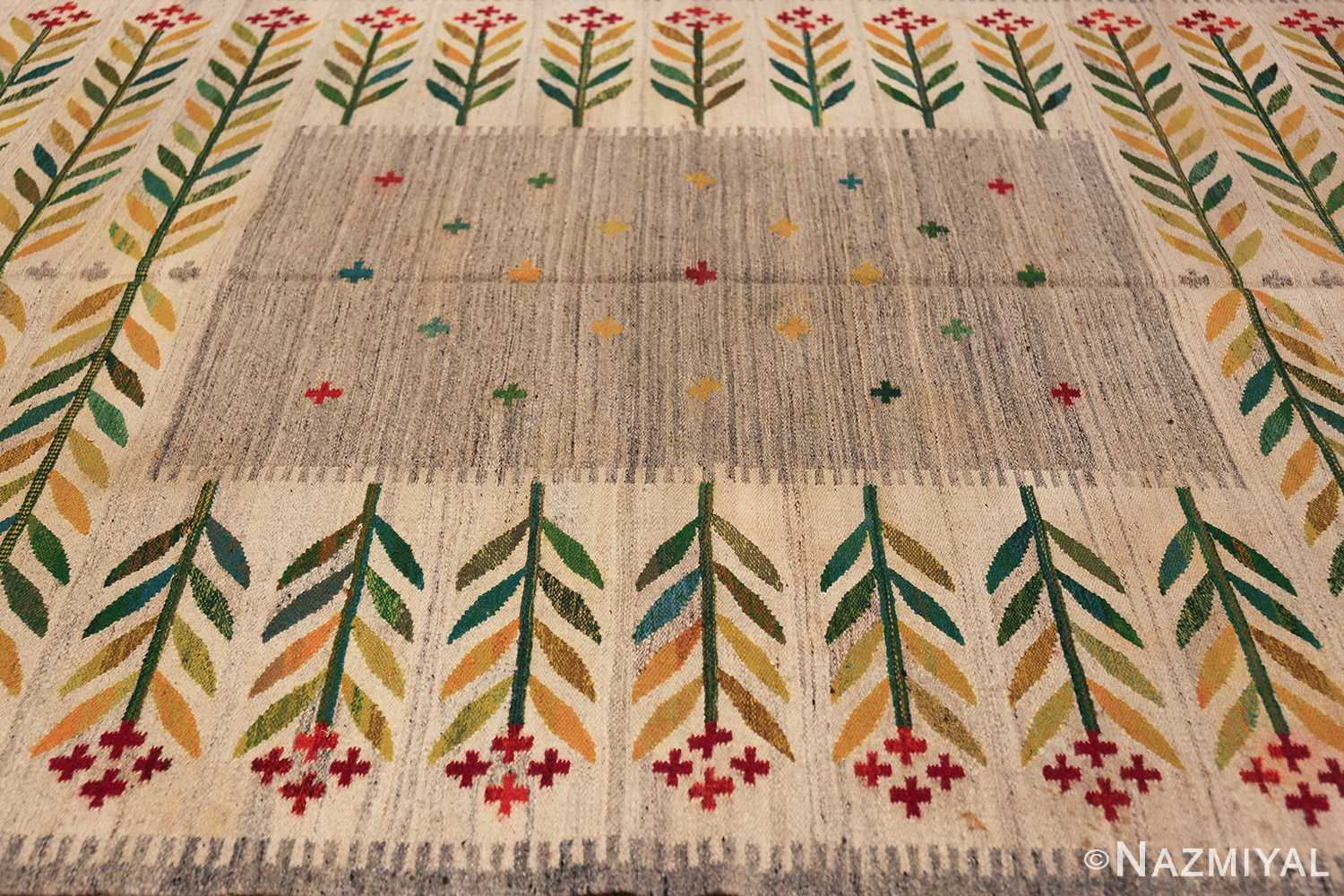 vintage scandinavian swedish carpet 48446 field Nazmiyal