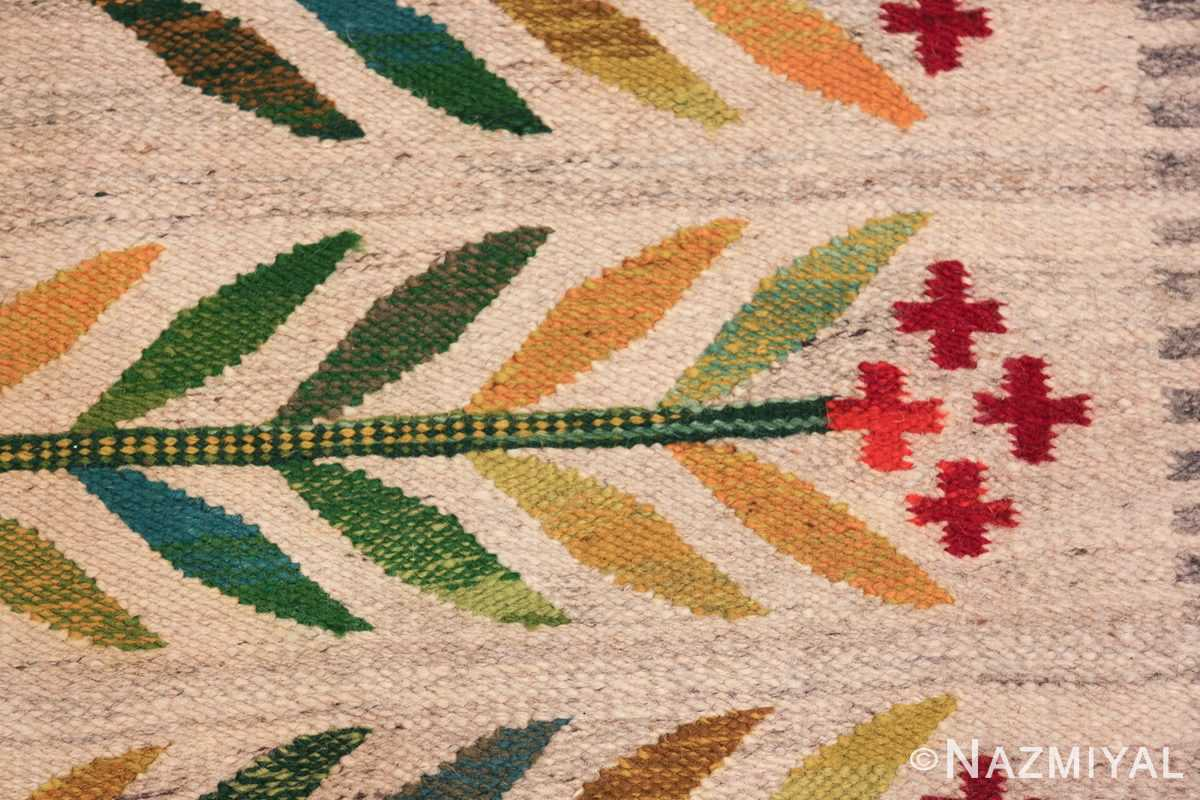 vintage scandinavian swedish carpet 48446 texture Nazmiyal