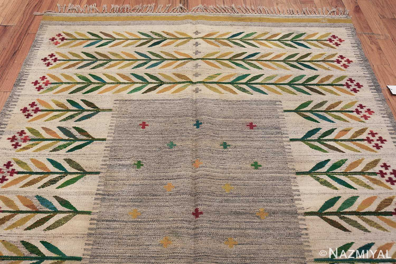 vintage scandinavian swedish carpet 48446 top Nazmiyal
