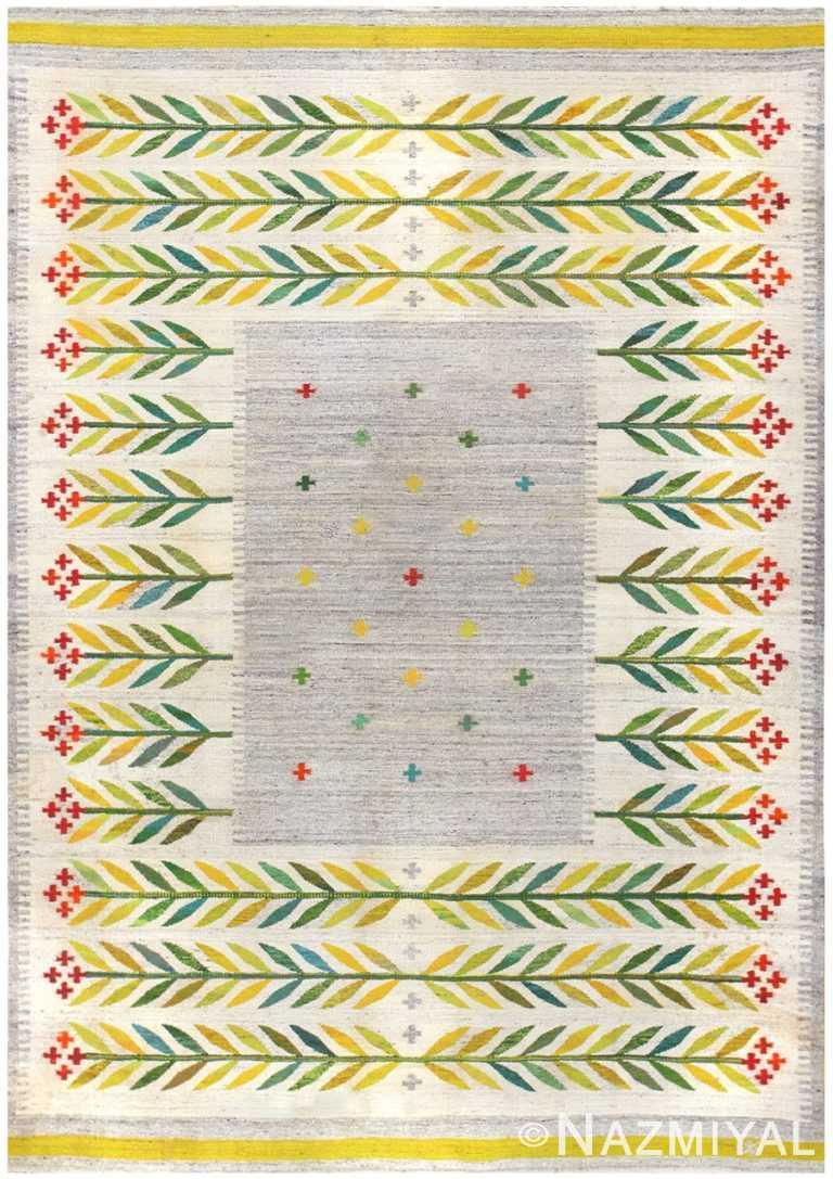 Vintage Scandinavian Swedish Kilim 48446 Nazmiyal